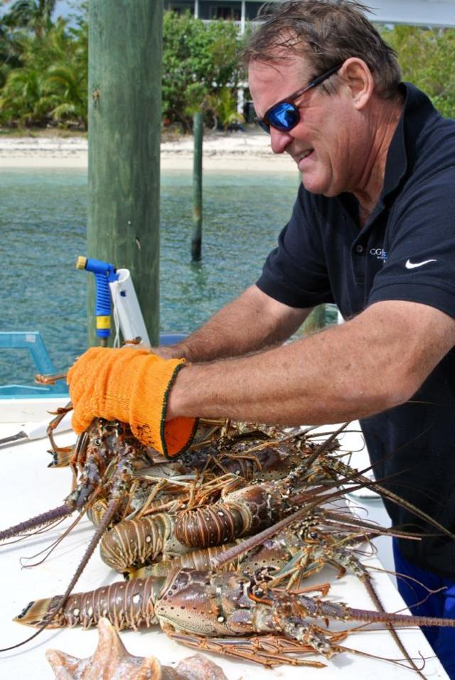 Master hunter and lobster picker Bobby Childs