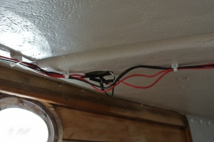 New wiring for running lights and interior lights
