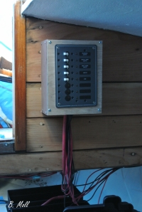 Mounted 12V panel, a little wiring left to clean up.