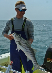 The Capt. with our catch