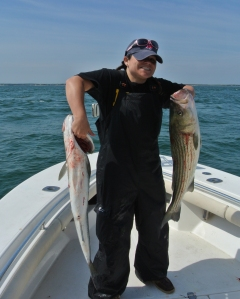 Our two striper's for dinner