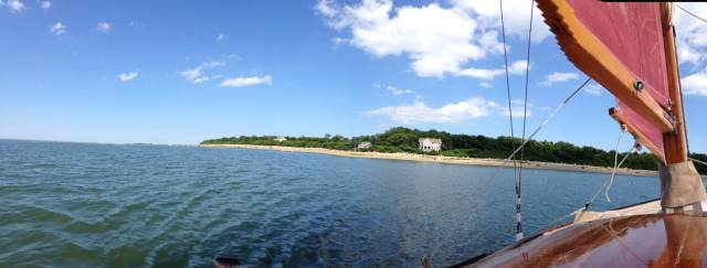 A panorama from the maiden voyage of Safari, off of Clark's Island