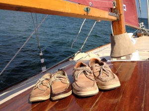 His and Hers Sperry's under sail!