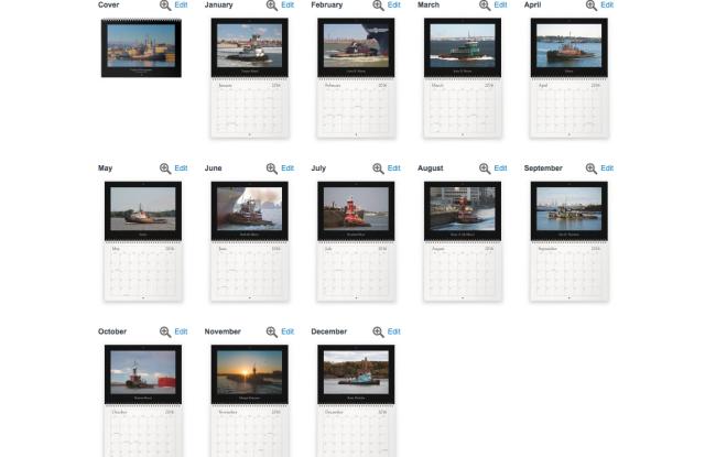 2016 Tugboat Calendar
