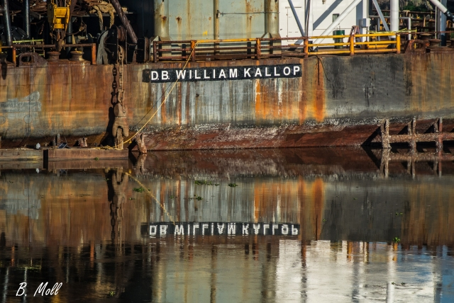 Stern of the derrick barge William Kallop, owned and operated by OSFI