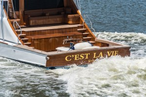 C'est La Vie, American Custom Yachts biggest boat. Floating art