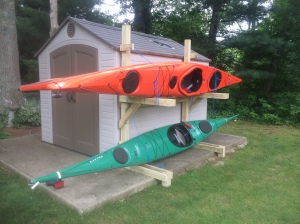 The kayaks even have a new home