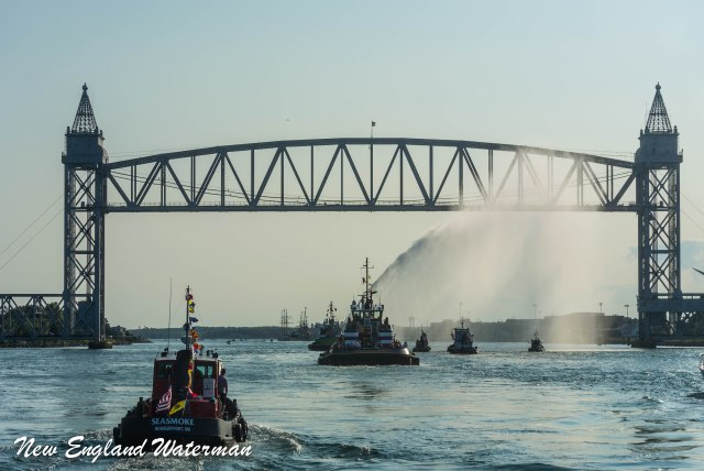 Water show by the McAllister tractors at the rail road bridge