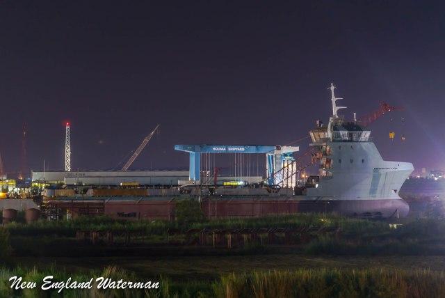 Bordelon Marine stingray class under construction in Houma