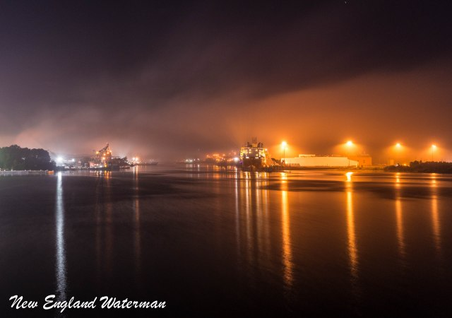 Theodore Industrial Canal  with the fog hanging over