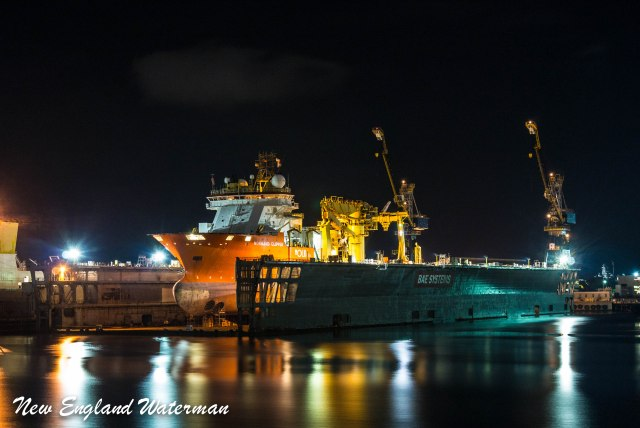 Normand Clipper in the dry dock at BAE in Mobile