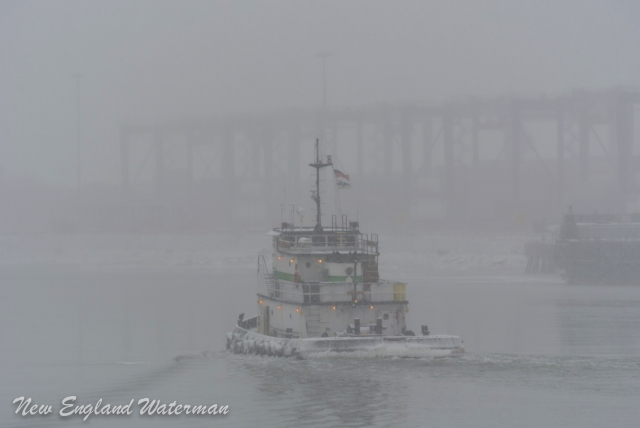 Brooklyn inbound MOT with the snow coming down fast