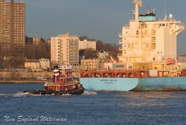 Charle D McAllister inbound the KVK with the Maersk Vallvik