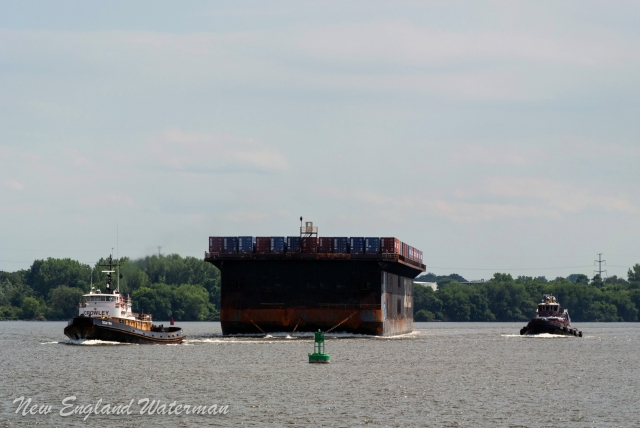 Sentry coming out of the horseshoe bend, up bound on the Delaware River