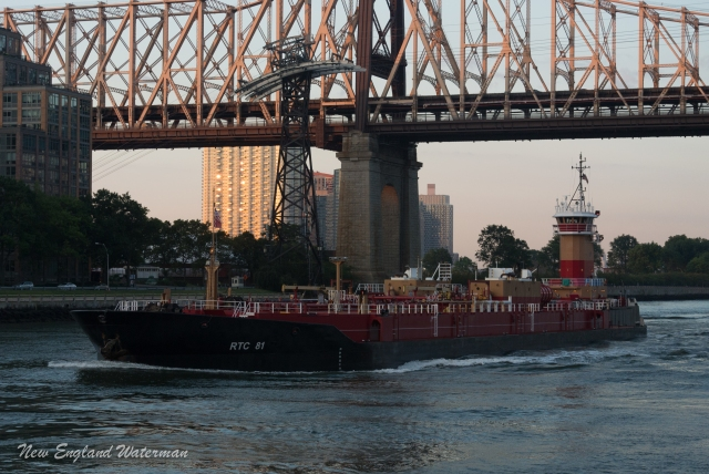 B. Franklin Reineaur eastbound with a loaded barge at the 59th st. Bridge