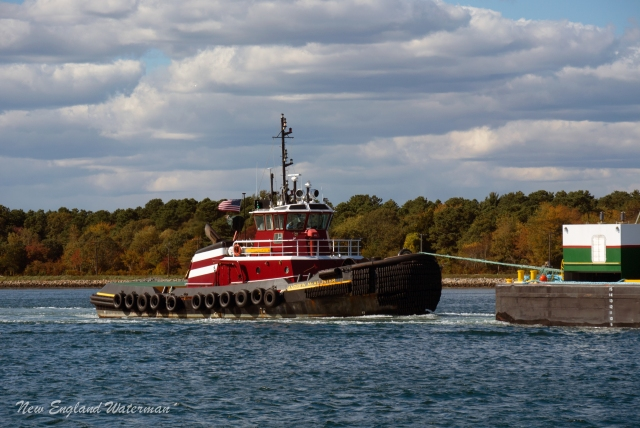 Andrew Mcallister working as a tail boat at the Cape Cod Canal