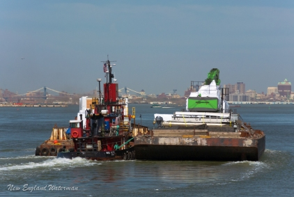 Miss Yvette with two barges for Fort Lauderdale